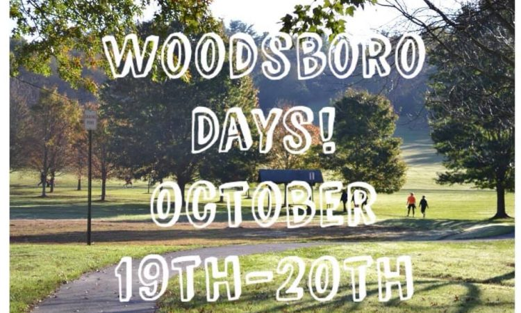 Mark your calendars October 16th. Woodsboro Days is going to be huge this year with lots of activities.  There are lots of things going on that day in our little town. You do not want to miss it.